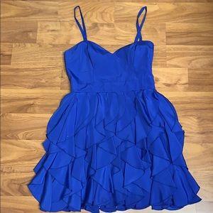 Forever 21 Blue Ruffle Dress